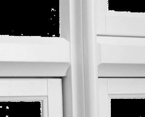 Profilert midtstolpe i krysspost vindu