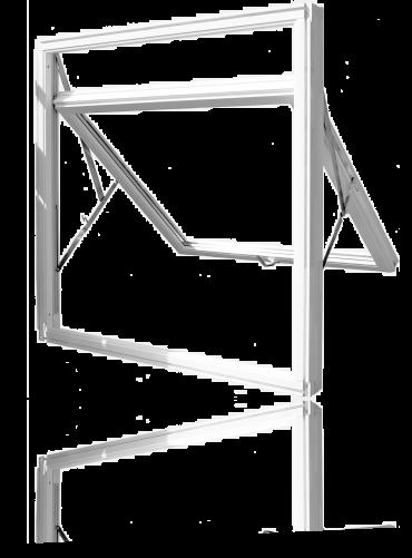 Eksempel på glidehengslet vindu