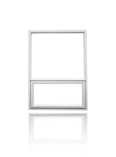 To-rams topphengslet/fastkarm, hvit.