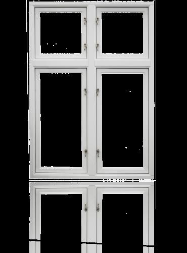 Innside krysspost (4-rams), hvit.