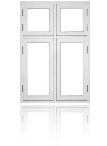 Krysspost (4-rams), hvit.